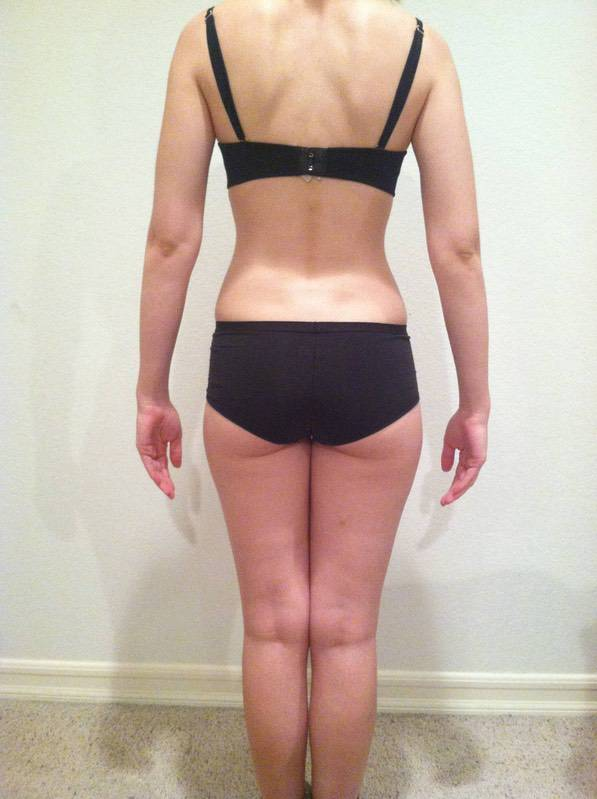 4 Photos of a 5'5 115 lbs Female Weight Snapshot