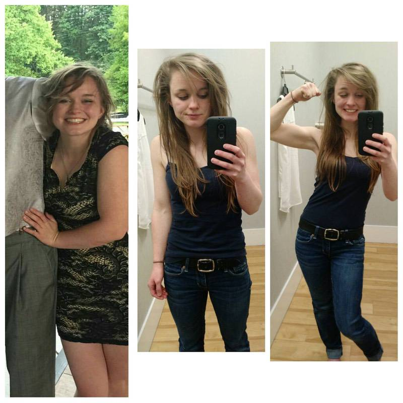 5 foot Female Before and After 10 lbs Weight Loss 115 lbs to 105 lbs