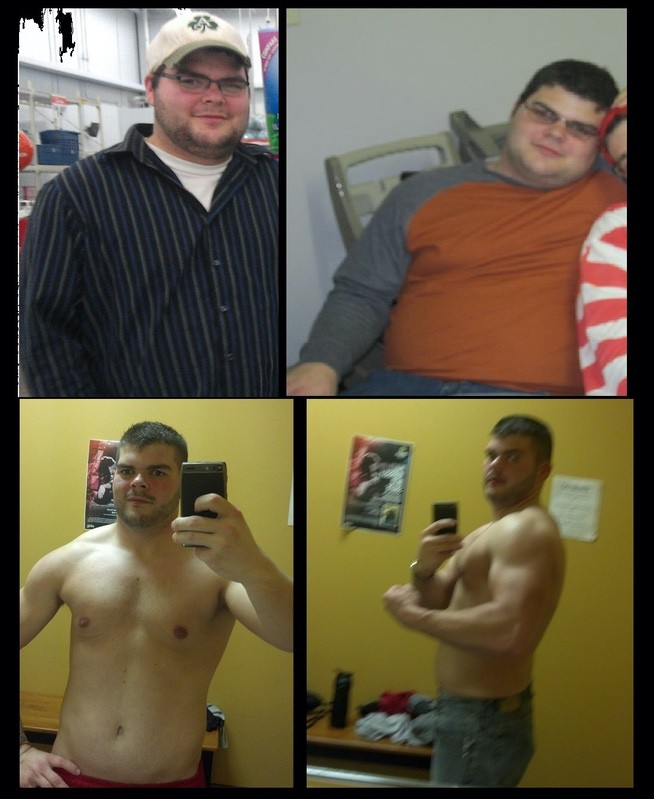 80 lbs Weight Loss Before and After 5 feet 9 Male 280 lbs to 200 lbs