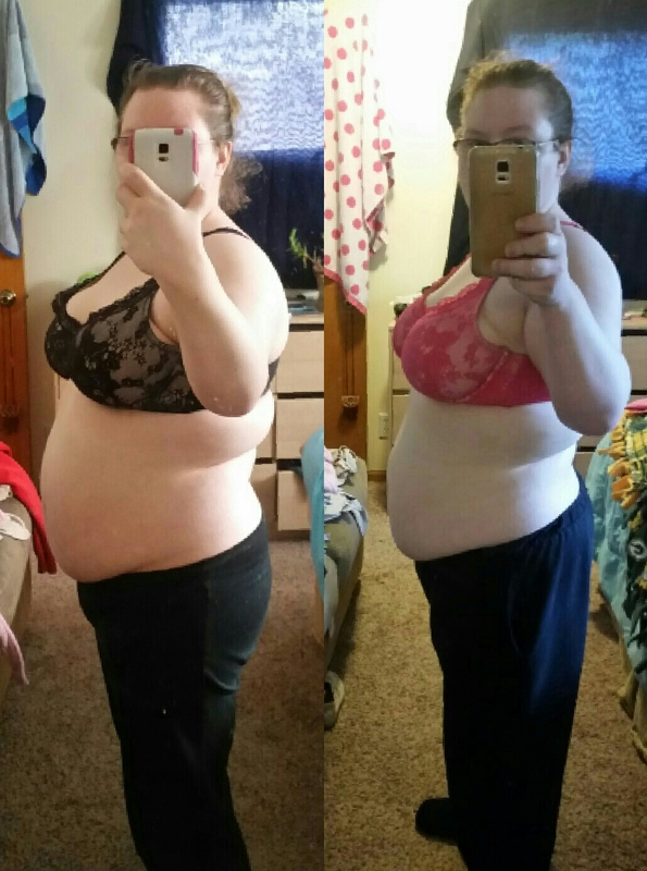5 foot Female Before and After 20 lbs Weight Loss 205 lbs to 185 lbs