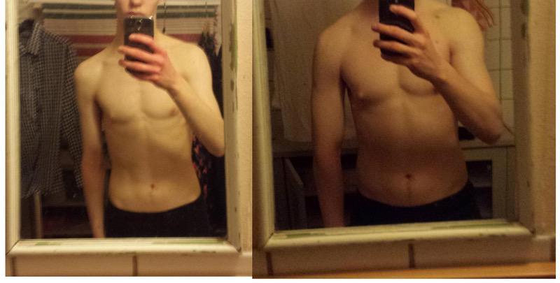 6 foot Male 33 lbs Muscle Gain 126 lbs to 159 lbs