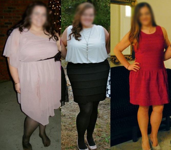 28 lbs Fat Loss Before and After 5 foot 5 Female 298 lbs to 270 lbs