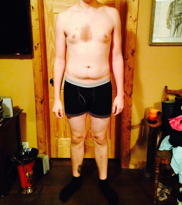 Before and After 2 lbs Fat Loss 6'6 Male 215 lbs to 213 lbs