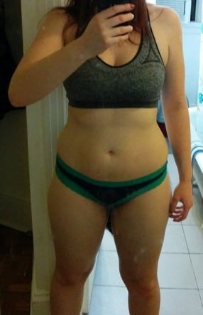 5'7 Female Before and After 25 lbs Weight Loss 160 lbs to 135 lbs