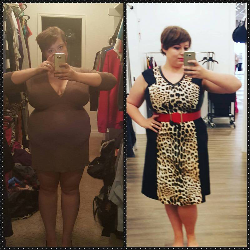 5 feet 1 Female Before and After 22 lbs Weight Loss 230 lbs to 208 lbs