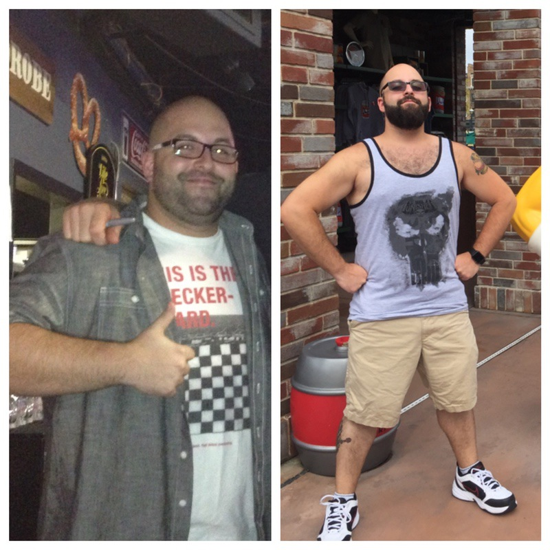 5'6 Male Before and After 42 lbs Fat Loss 237 lbs to 195 lbs