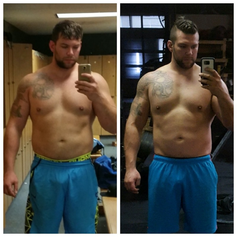 6'4 Male 18 lbs Fat Loss Before and After 292 lbs to 274 lbs