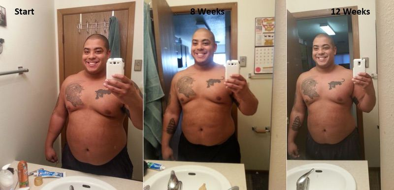Before and After 30 lbs Weight Loss 5 feet 9 Male 300 lbs to 270 lbs