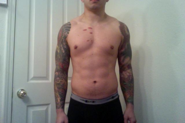 15 lbs Weight Loss Before and After 5 feet 8 Male 185 lbs to 170 lbs