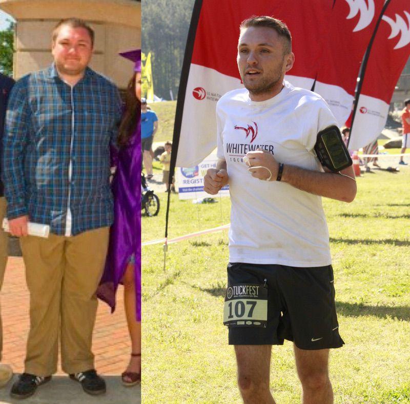 90 lbs Weight Loss 5 foot 8 Male 230 lbs to 140 lbs