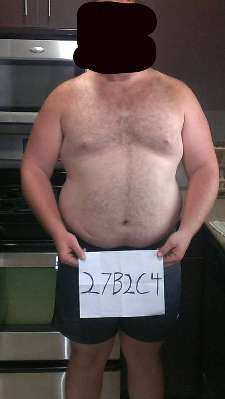 3 Pictures of a 6 foot 292 lbs Male Weight Snapshot
