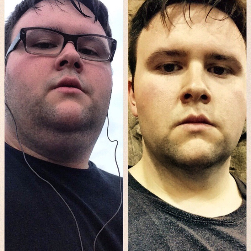 81 lbs Weight Loss Before and After 5 foot 9 Male 380 lbs to 299 lbs