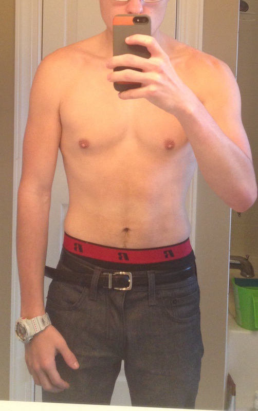 5 feet 7 Male Before and After 15 lbs Muscle Gain 125 lbs to 140 lbs