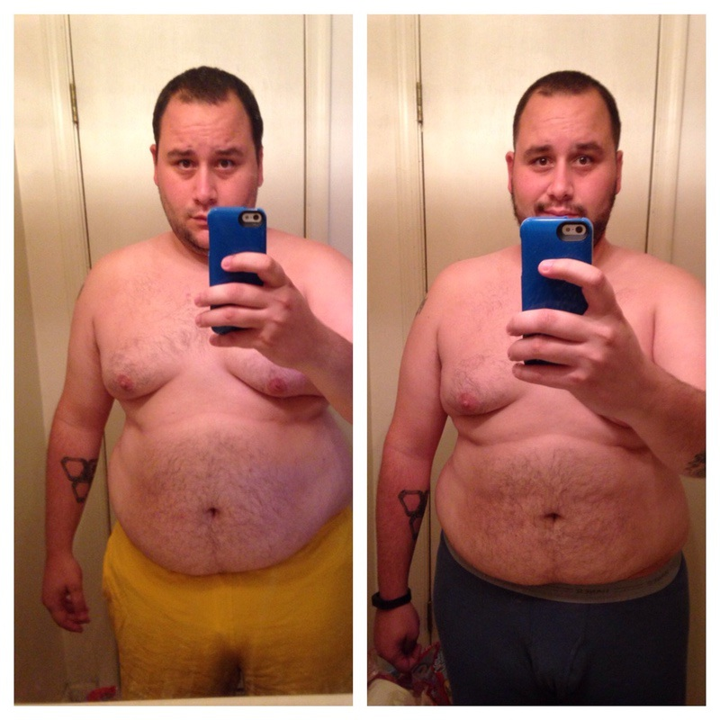 5'10 Male Before and After 29 lbs Fat Loss 290 lbs to 261 lbs