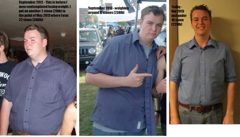 88 lbs Weight Loss 6 foot 2 Male 308 lbs to 220 lbs