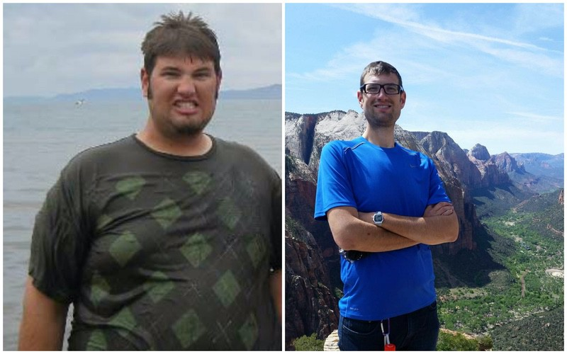 Before and After 175 lbs Fat Loss 6 feet 7 Male 390 lbs to 215 lbs