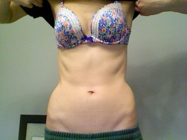 5 foot 8 Female Progress Pics of 20 lbs Weight Gain 105 lbs to 125 lbs