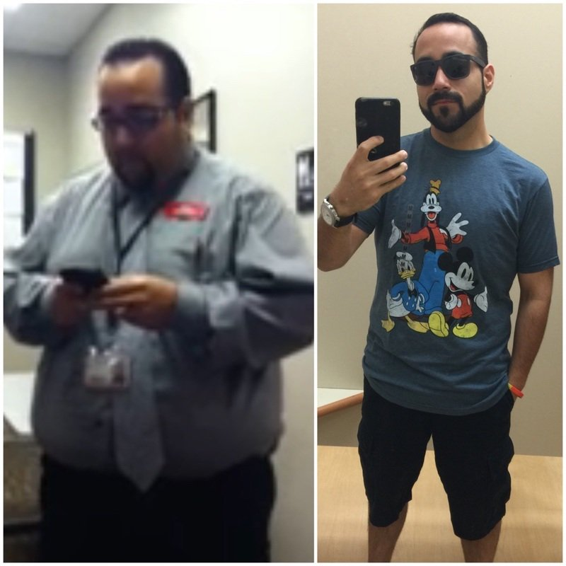 102 lbs Fat Loss 5 foot 7 Male 284 lbs to 182 lbs