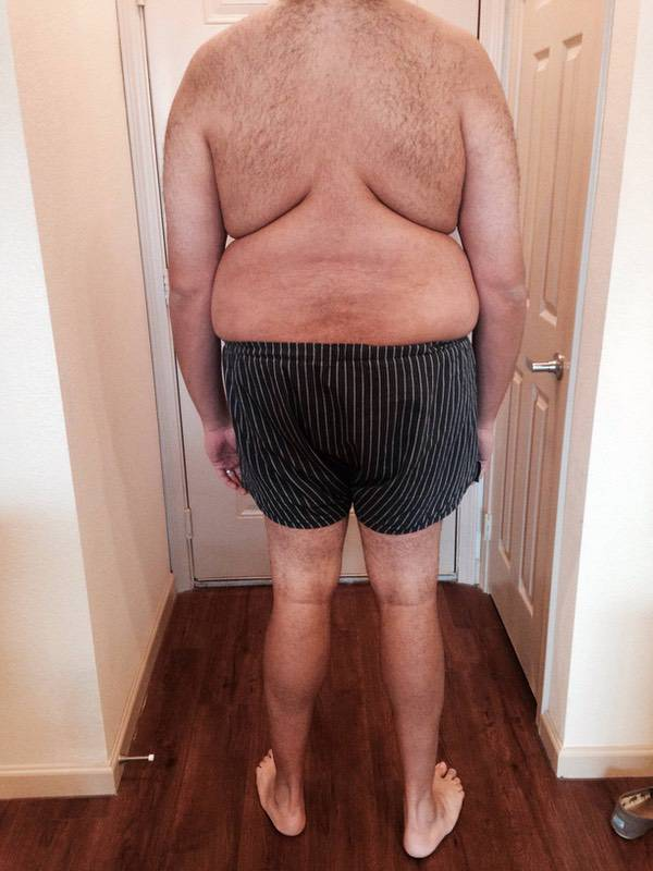 3 Pictures of a 306 lbs 6'3 Male Weight Snapshot