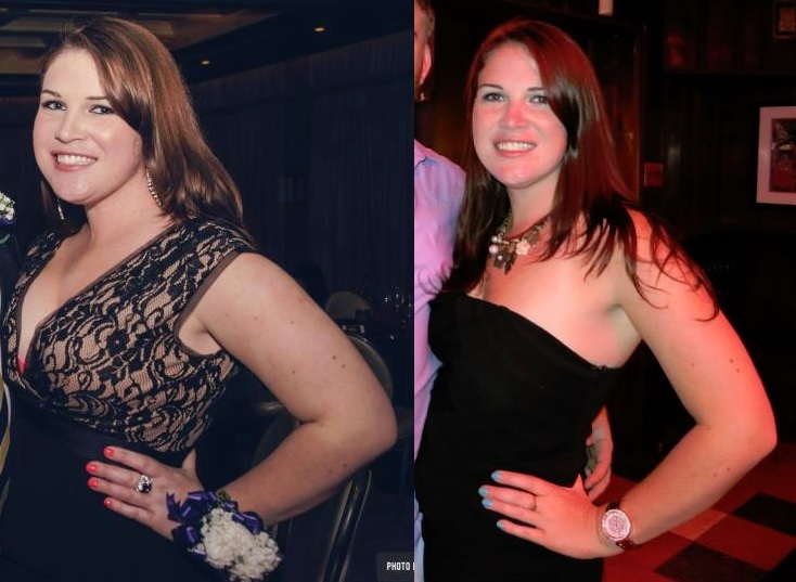 5'6 Female Before and After 26 lbs Weight Loss 187 lbs to 161 lbs