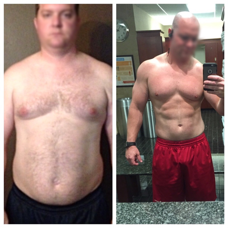 6 foot Male 19 lbs Weight Loss Before and After 234 lbs to 215 lbs