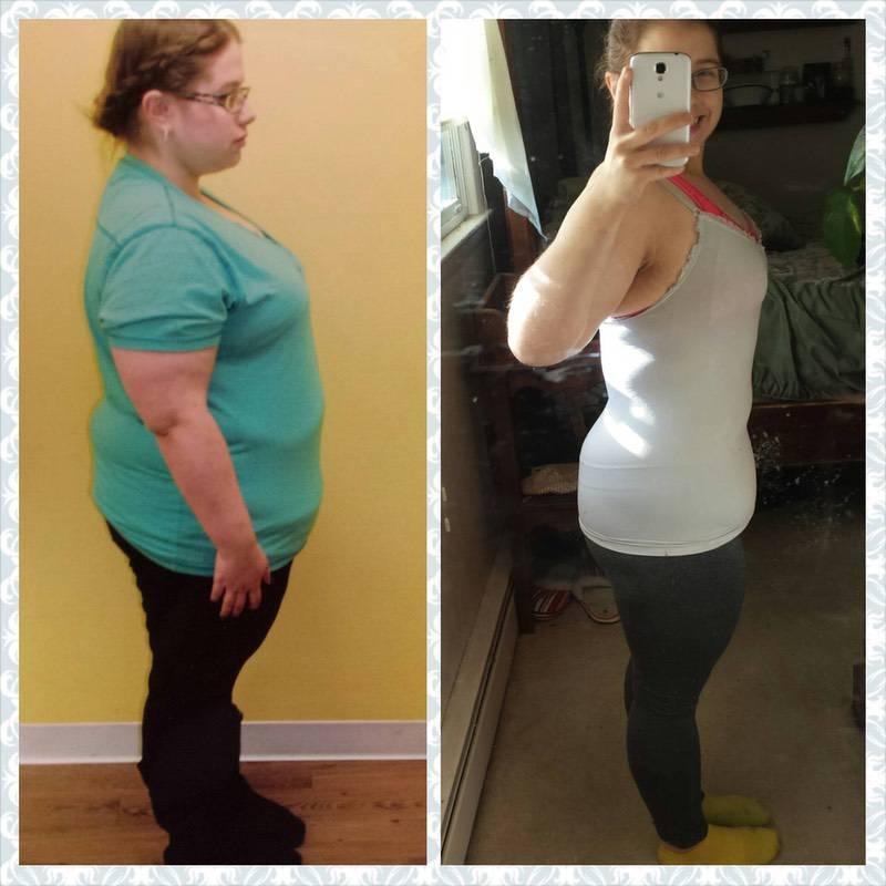 5 feet 2 Female Progress Pics of 77 lbs Fat Loss 238 lbs to 161 lbs