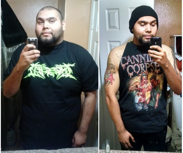 6 foot 2 Male Before and After 120 lbs Fat Loss 345 lbs to 225 lbs