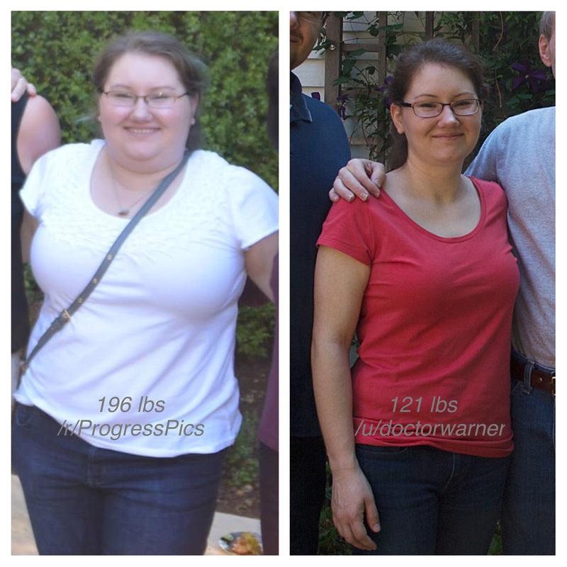 Progress Pics of 75 lbs Fat Loss 5 foot 1 Female 196 lbs to 121 lbs
