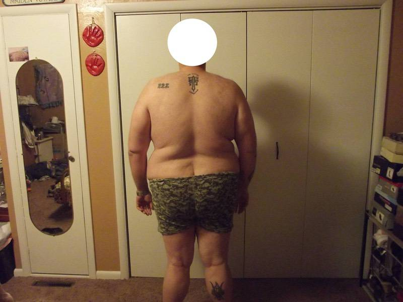 4 Pictures of a 360 lbs 6 foot 4 Male Weight Snapshot