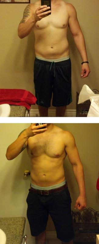 Progress Pics of 12 lbs Fat Loss 5'7 Male 165 lbs to 153 lbs