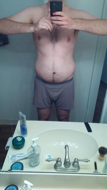 22 lbs Fat Loss 6'6 Male 247 lbs to 225 lbs