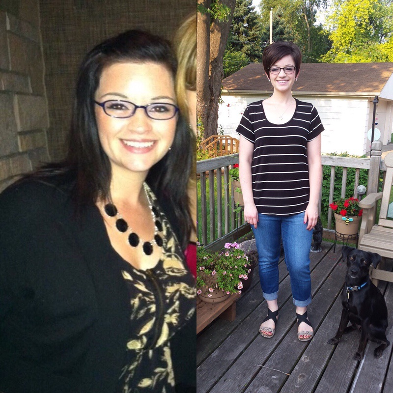 5 feet 4 Female 43 lbs Fat Loss Before and After 185 lbs to 142 lbs