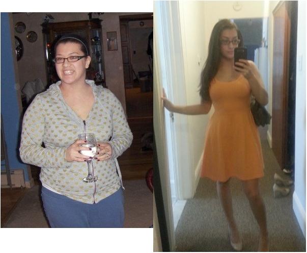 Progress Pics of 55 lbs Weight Loss 5 foot 3 Female 180 lbs to 125 lbs