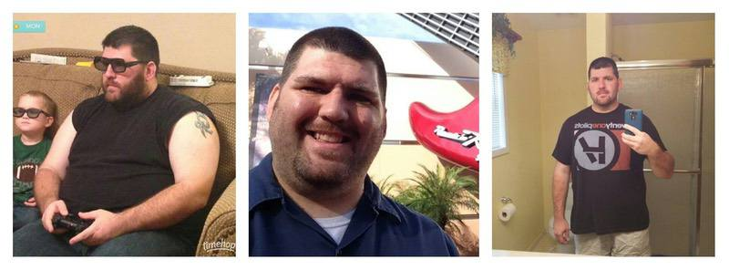 6 foot Male 70 lbs Weight Loss Before and After 333 lbs to 263 lbs