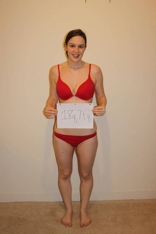 4 Photos of a 127 lbs 5'6 Female Fitness Inspo