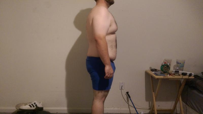 3 Pics of a 247 lbs 5 feet 7 Male Fitness Inspo