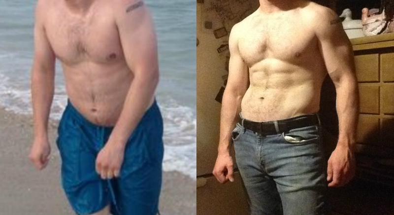6 foot Male 8 lbs Weight Loss Before and After 197 lbs to 189 lbs