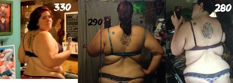 6 feet 3 Female 50 lbs Weight Loss Before and After 330 lbs to 280 lbs