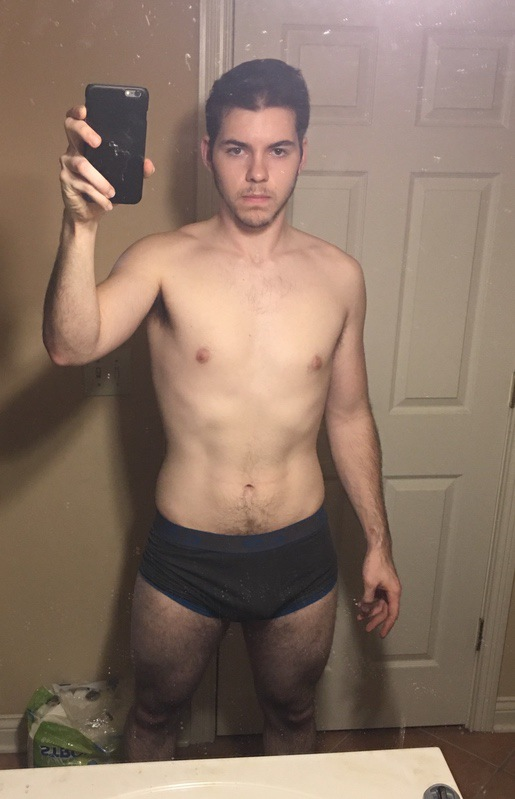 2 Pictures of a 184 lbs 6 foot Male Weight Snapshot