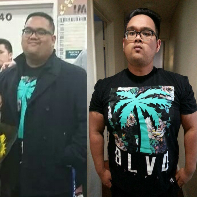 5'9 Male Before and After 60 lbs Weight Loss 320 lbs to 260 lbs
