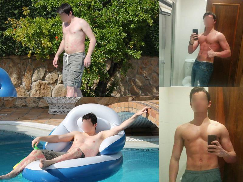 Progress Pics of 20 lbs Weight Loss 6 foot Male 198 lbs to 178 lbs