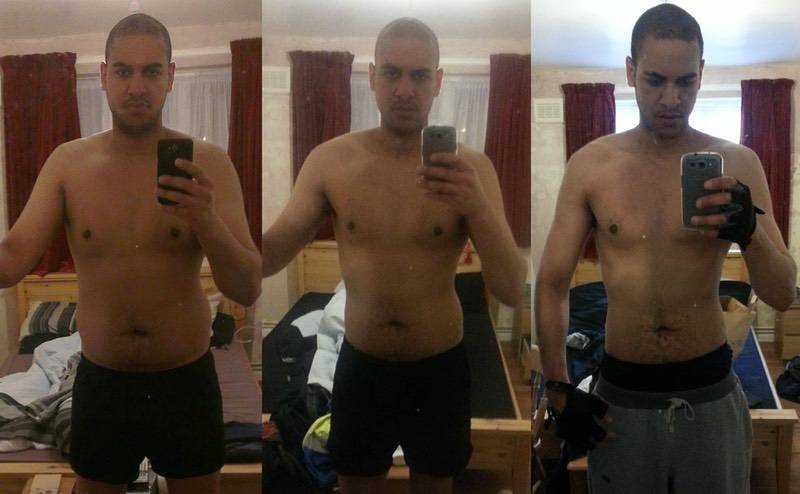 6 feet 7 Male Before and After 45 lbs Fat Loss 270 lbs to 225 lbs