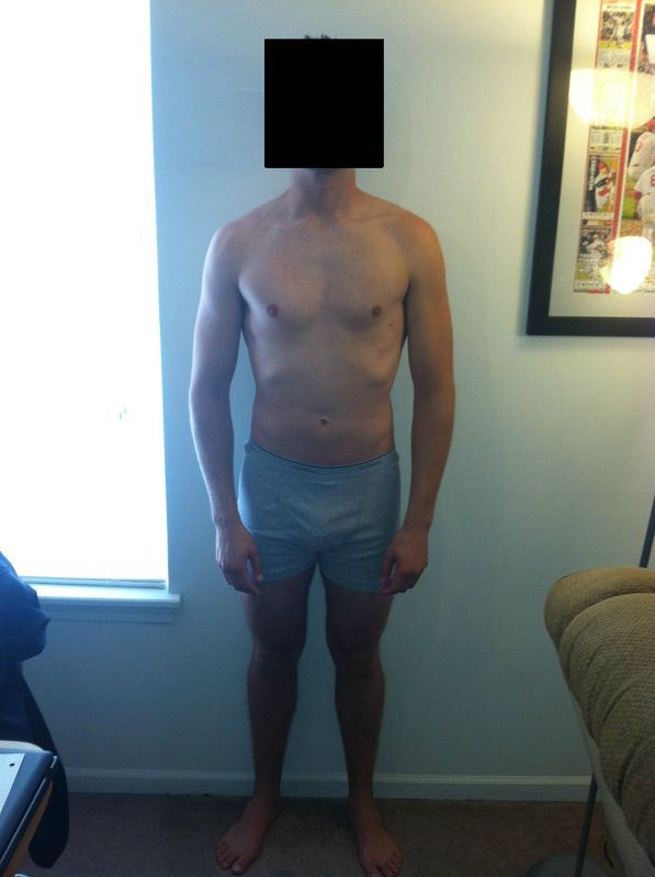 4 Pictures of a 6 foot 162 lbs Male Weight Snapshot