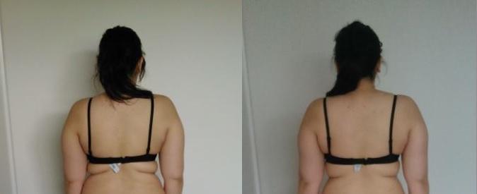 Progress Pics of 9 lbs Fat Loss 5 feet 4 Female 185 lbs to 176 lbs