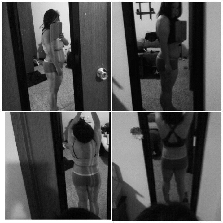 Progress Pics of 6 lbs Weight Loss 4 feet 9 Female 146 lbs to 140 lbs