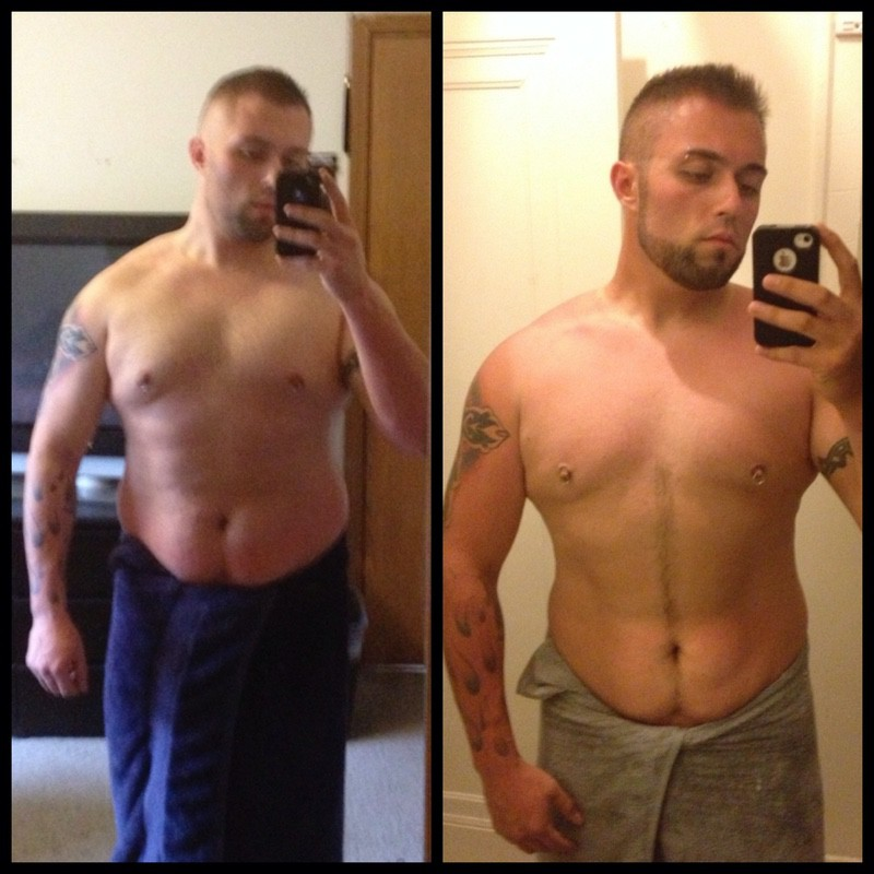 6'1 Male Before and After 113 lbs Fat Loss 321 lbs to 208 lbs