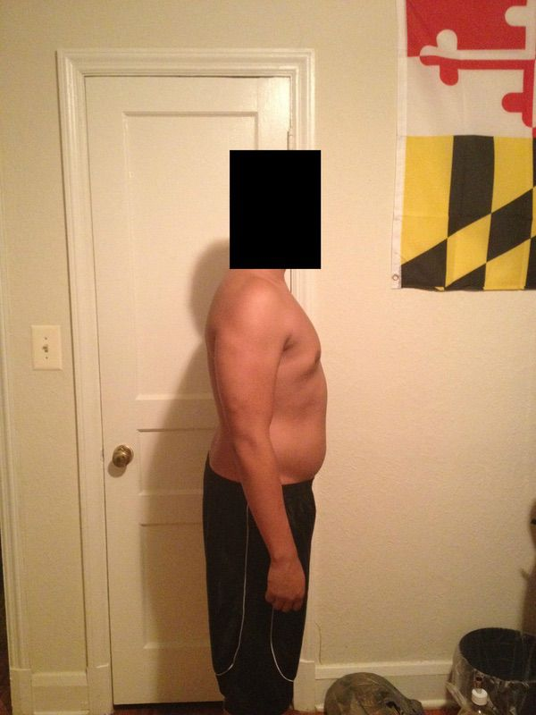 4 Pics of a 5'10 195 lbs Male Weight Snapshot