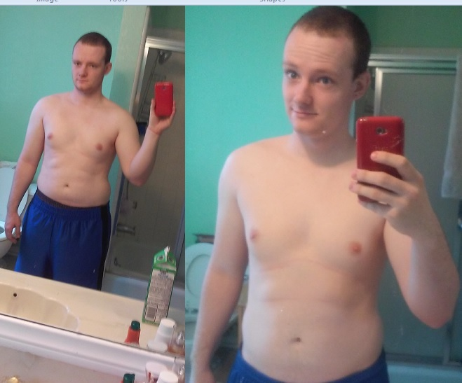 5 feet 8 Male 18 lbs Weight Loss Before and After 185 lbs to 167 lbs