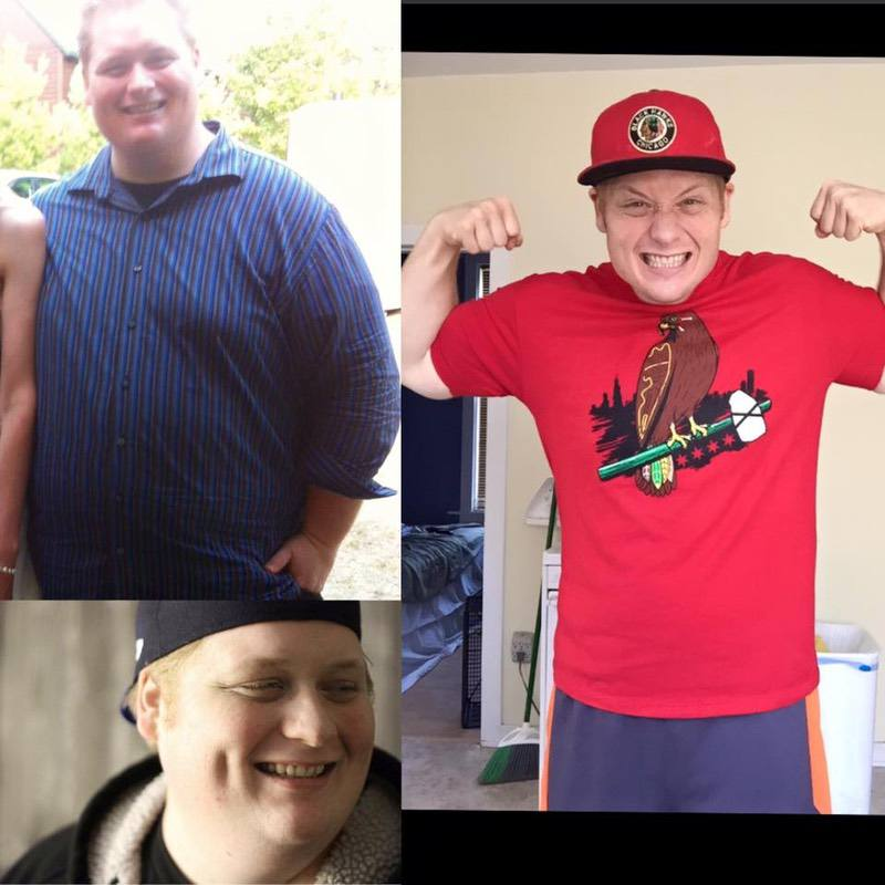 Before and After 180 lbs Fat Loss 6 foot Male 419 lbs to 239 lbs