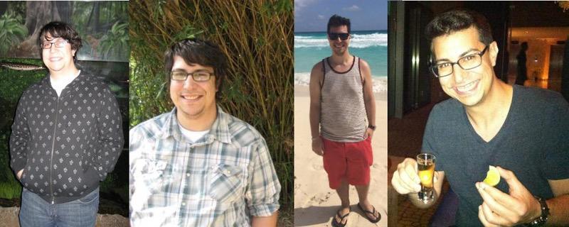 5 feet 5 Male Progress Pics of 80 lbs Weight Loss 260 lbs to 180 lbs
